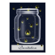 fireflies country mason jar wedding invites by mgdezigns