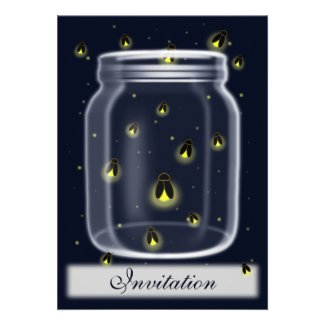 magical fireflies mason jar wedding invites