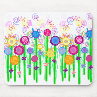 Magical Flowers Mouse Pad