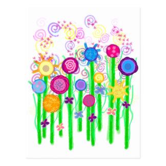 Magical Flowers Postcard