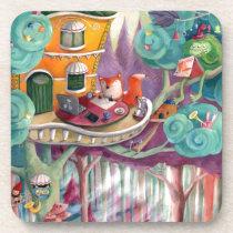 artsprojekt, forest, fox, bear, forest illustration, magical forest, fox illustrator, children illustration, forest animal, animal, kids illustration, fairy tale, colorful forest, illustrator, cute animals, green monster, [[missing key: type_fuji_coaste]] com design gráfico personalizado