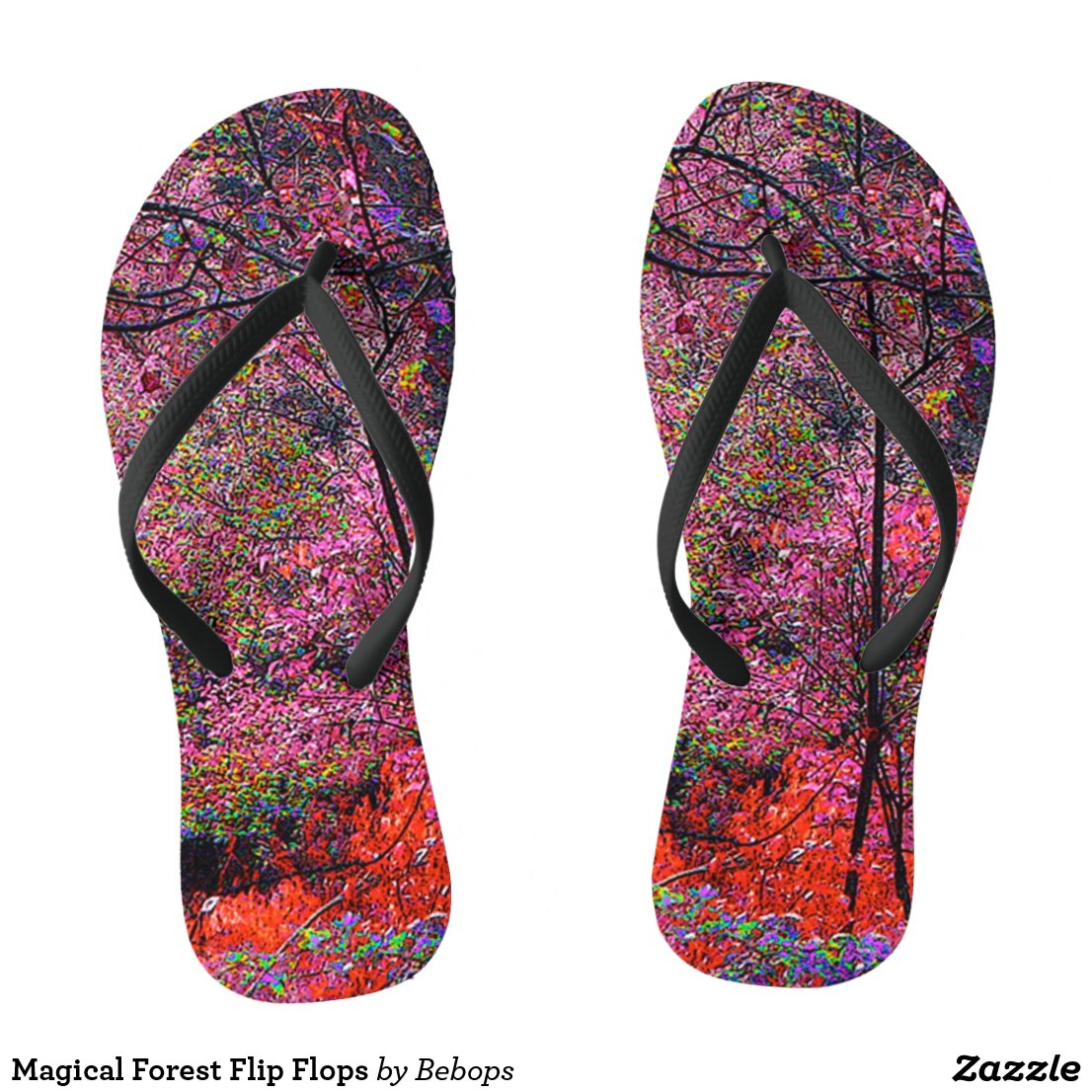 Magical Forest Flip Flops