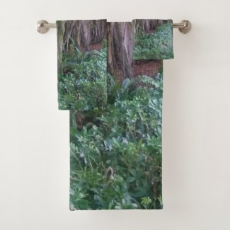 Forest Trees Photo Print Towel Set for Bathroom