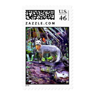 MAGICAL FOX FOREST STAMP