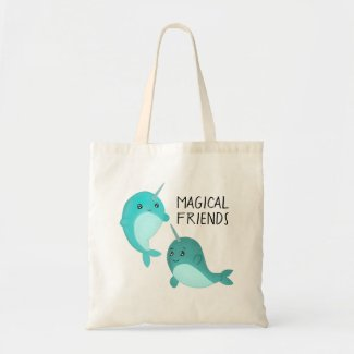 Magical Friends Narwhals Tote Bag