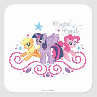 Magical Friends Square Sticker
