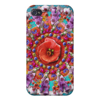 Magical Garden ~ Flowers and Butterflies Case For iPhone 4