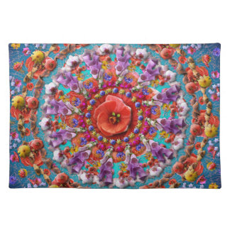 Magical Garden ~ Flowers and Butterflies Cloth Placemat