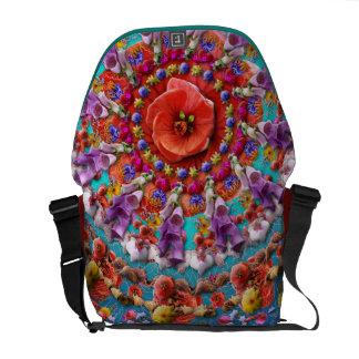 Magical Garden ~ Flowers and Butterflies Courier Bag