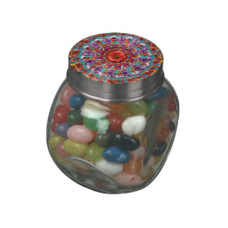 Magical Garden ~ Flowers and Butterflies Jelly Belly Candy Jar