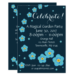 Magical Garden Forget-Me-Nots Invitation