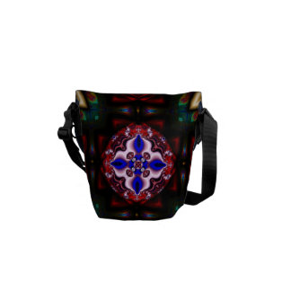 Magical Garden l Fractal Geometric Design Messenger Bag