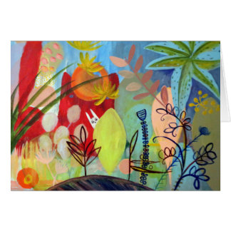 magical garden stationery note card
