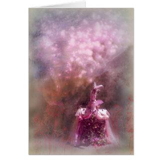 magical garden with princess, card