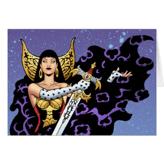 Magical Gothic Queen with Huge Sword by Al Rio Cards