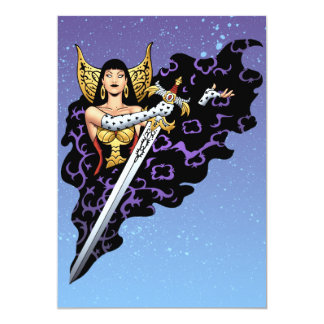 Magical Gothic Queen with Huge Sword by Al Rio Announcement