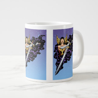 Magical Gothic Queen with Huge Sword by Al Rio Large Coffee Mug