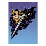 Magical Gothic Queen with Huge Sword by Al Rio Poster