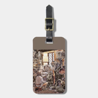 Magical Grandpa and Little Boy Luggage Tag