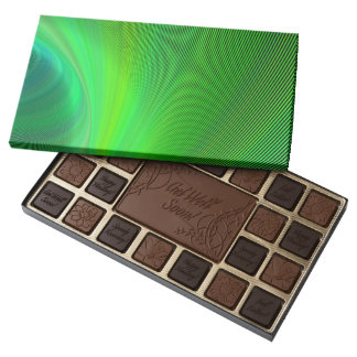Magical green assorted chocolates