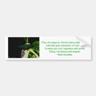 Magical Green Spotted Butterfly Bumper Sticker