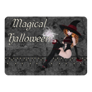 Magical Halloween Witch Party Invitation