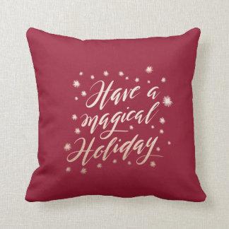 magical holiday Holiday Pillow