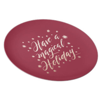magical holiday Plate