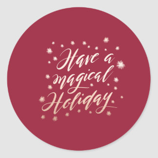 magical holiday sticker