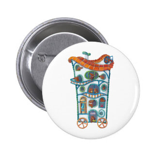 Magical House on Wheels 2 Inch Round Button