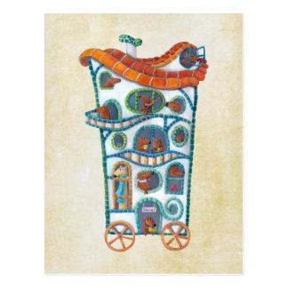 Magical House on Wheels Postcard