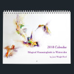"Magical Hummingbirds in Watercolor 2018 Calendar<br><div class=""desc"">Featuring the beautiful watercolors of artist Janet Weight Reed,  this calendar of beautiful hummingbird watercolors is sure to delight month after month! This calendar features prints from the 2017 calendar - but the calendar pages have been adjusted for 2018.</div>"