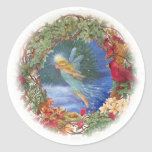 Magical illustrated Fairy christmas sticker