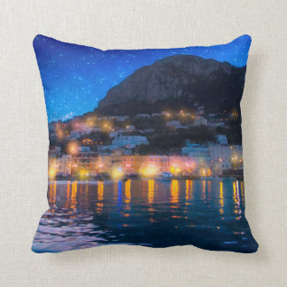 Magical Italian Isle of Capri Throw Pillow