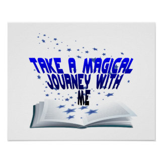 Magical Journey In A Book Poster