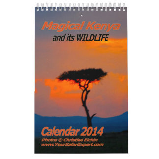 Magical Kenya Calendar 2014 (Single-Page)