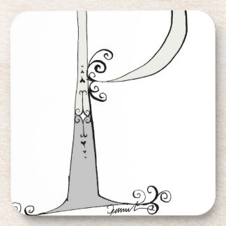 Magical Letter P from tony fernandes design Drink Coaster