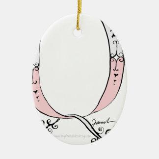 Magical Letter Q from tony fernandes design Ceramic Ornament