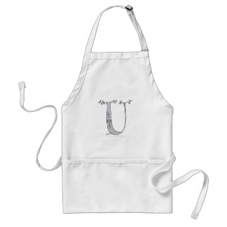 Magical Letter U from tony fernandes design Adult Apron