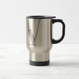 Magical Letter V from tony fernandes design Travel Mug