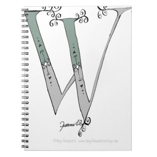 Magical Letter W from tony fernandes design Spiral Notebook