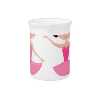 Magical little ballerinas pink beverage pitcher