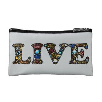Magical Live and Love Emoji-art design Cosmetic Bag