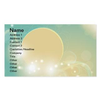 Magical lunar art illustration business card