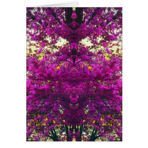 Magical Magenta Trees Art Photo Blank Inside Card