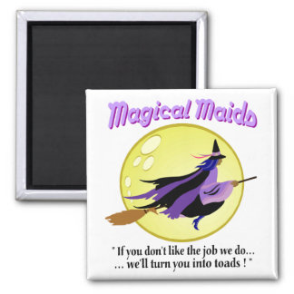 Magical Maids Witch Magnet
