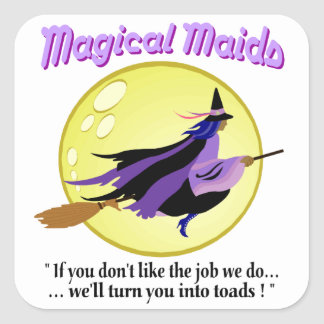 Magical Maids Witch Stickers