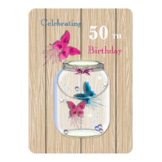 Magical Mason Jar Of Butterflies Card