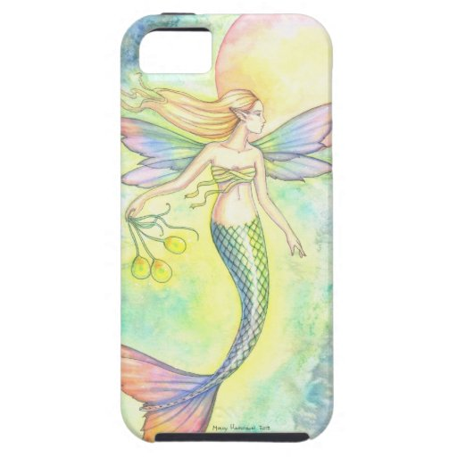 Magical Mermaid and Moon Fantasy Art iPhone 5 Case
