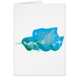 magical mermaid greeting card